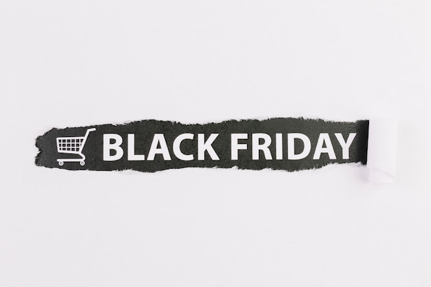 Bord met inscriptie van black friday