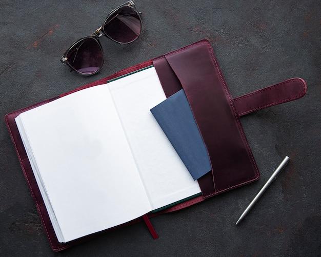 Bordeaux lederen notitieboek