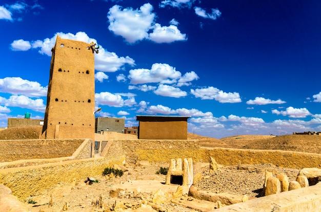 Borj cheikh el hadj in beni isguen, een stad in de mzab-vallei - algerije