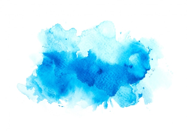 Borstel blauwe aquarel