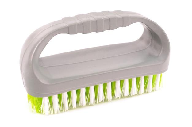 Borstel voor het reinigen van kleding op wit