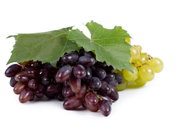 Bossen van verse, sappige rode en groene druiven