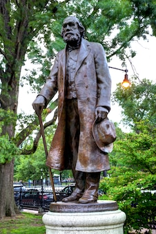 Boston common edward everett hale-monument