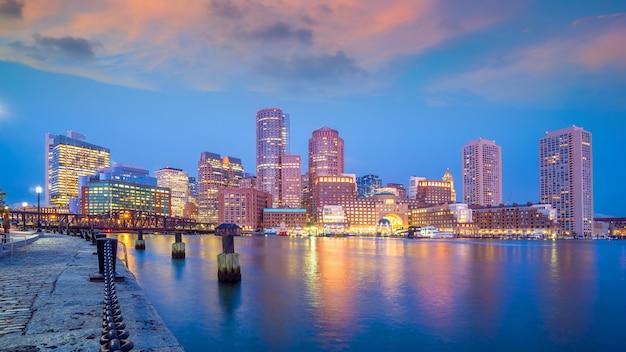 Boston stad centrum skyline stadsgezicht van usa