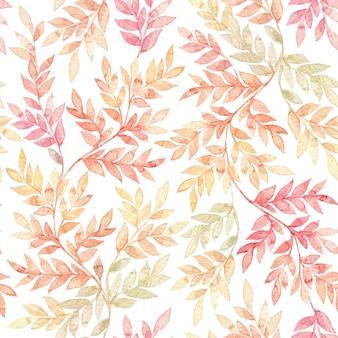 Botanische aquarel naadloze patroon