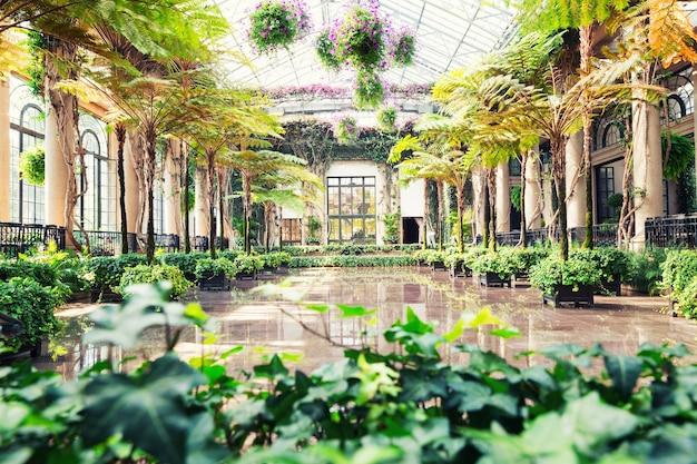 Botanische tuin broeikas.