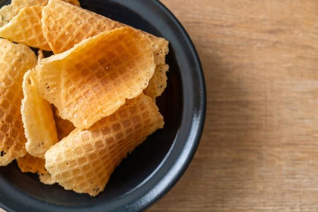 Boter en melk knapperige wafel