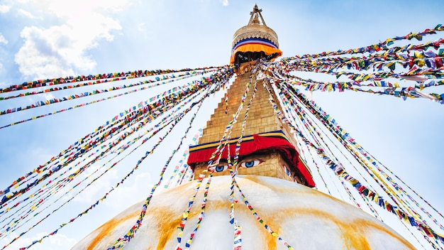 Bouddhanath stupa in de vallei van kathmandu, nepal