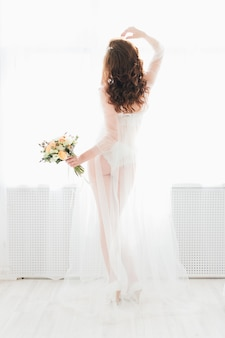 Boudoir bruid's ochtend