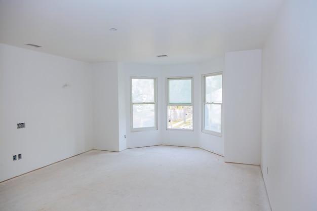 Bouw bouwnijverheid nieuwe huisbouw interieur drywall tape.