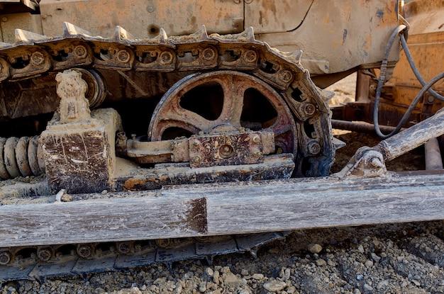 Bouw grote machine-industrie graafmachine bulldozer werk