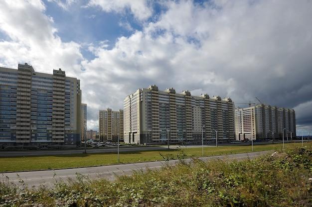 Bouw van een moderne woningbouw