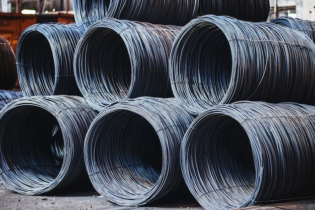Bouwarmatuur bevindt zich in het magazijn van metallurgische producten. element van de constructie.