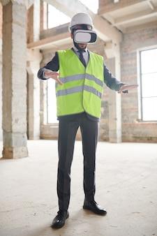 Bouwer in virtual reality