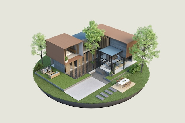 Bouwkundige plannen en interieurdecoratie