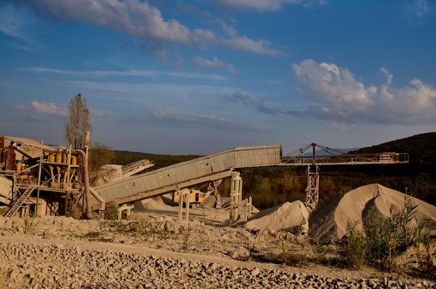 Bouwmachines bulldozer zand grind