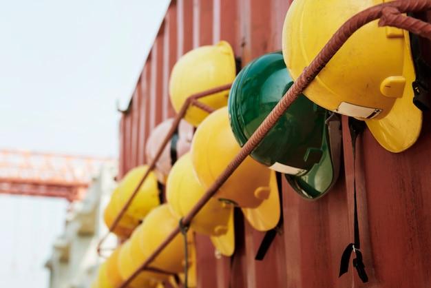 Bouwplaats ontwikkeling industrie concept