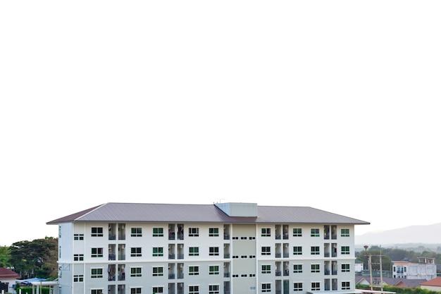 Bouwplaats van huis met landschap berg achtergrond