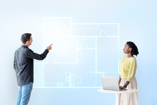 Bouwplan hologram slimme constructietechnologie