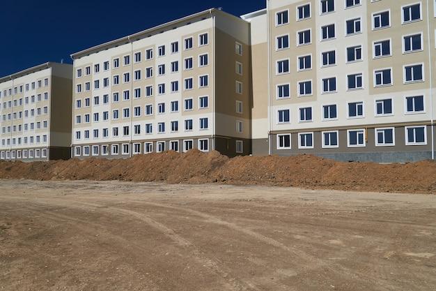 Bouwproces en ontwikkeling van het huisgebied, landsortering