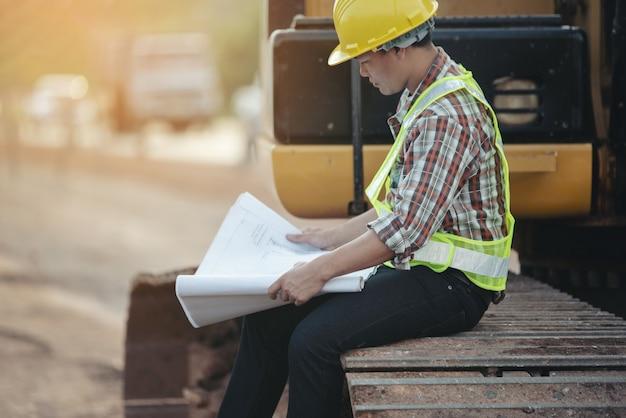 Bouwwerkzaamheden op de bouwplaats