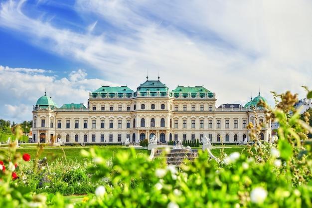 Boven belvedere. belangrijkste paleiscomplex belvedere.vienna. oostenrijk.