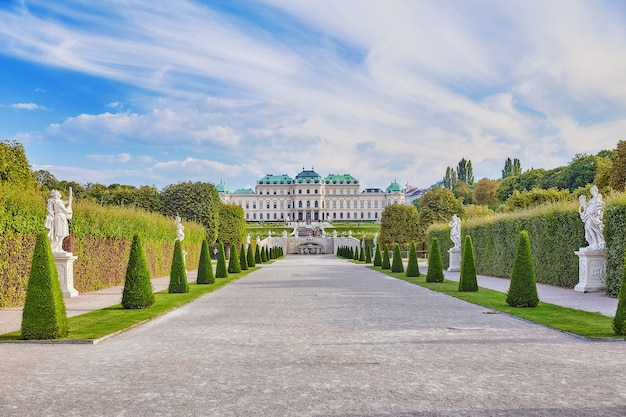 Boven belvedere. belangrijkste paleiscomplex belvedere.vienna