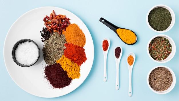Boven specerijen arrangement