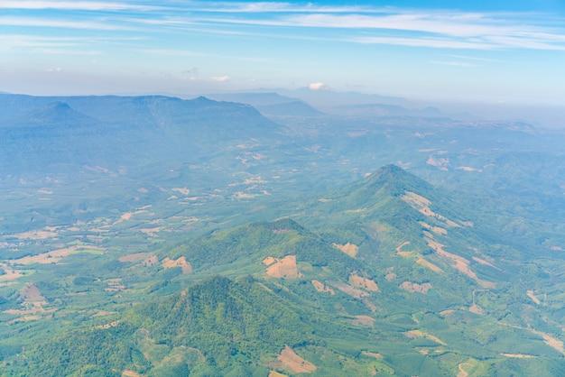 Boven vliegtuigen vliegbereik hill