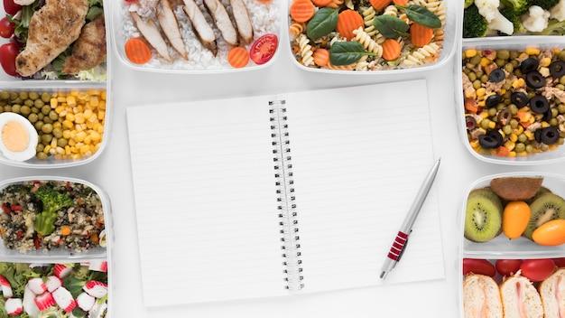 Boven weergave arrangement gezond voedsel