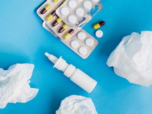 Bovenaanzicht arrangement met pillen