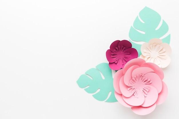 Bovenaanzicht bloemenpapier decoratie