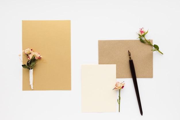 Bovenaanzicht bruiloft arrangementen