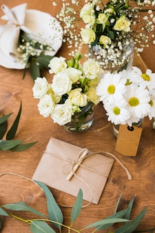 Bovenaanzicht bruiloft ornamenten