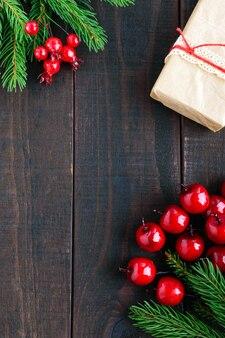 Bovenaanzicht cadeaus voor kerstmis