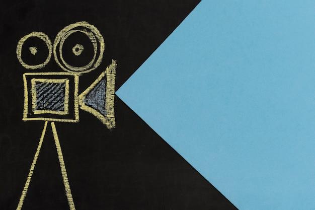 Bovenaanzicht camera tekenen