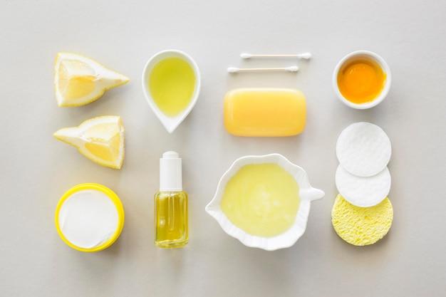 Bovenaanzicht citrus spa-behandeling concept