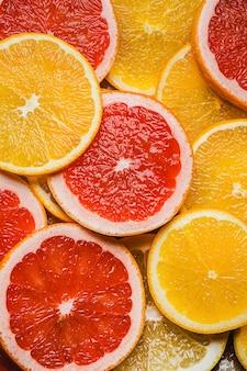 Bovenaanzicht citruses regeling achtergrond