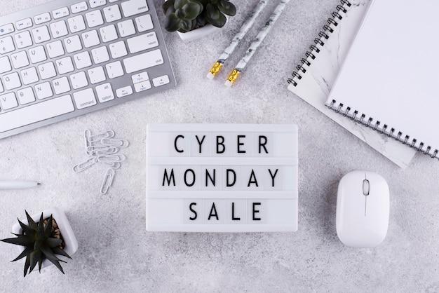 Bovenaanzicht cyber maandag arrangement