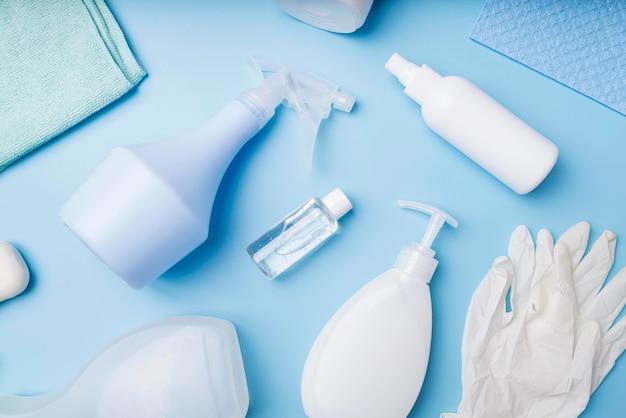Bovenaanzicht desinfectieapparatuur