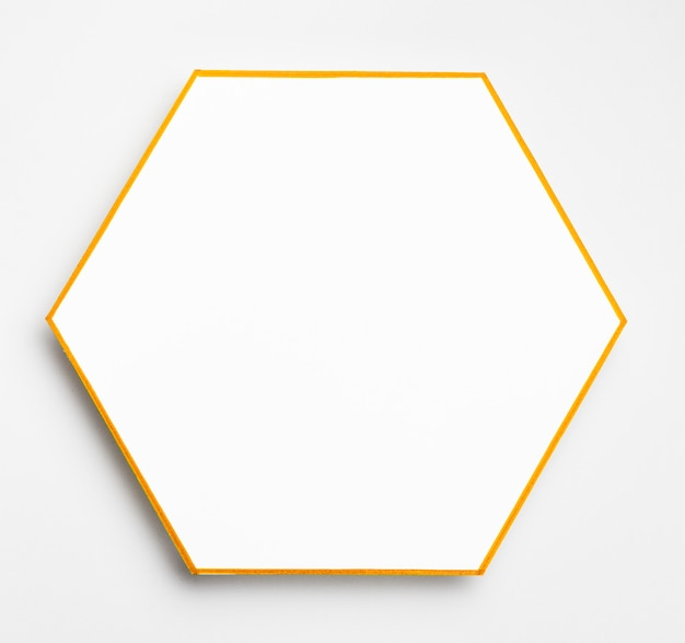 Bovenaanzicht elegante gouden frame