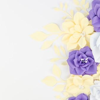 Bovenaanzicht floral frame met kopie-ruimte