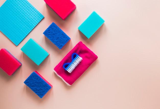 Bovenaanzicht frame met afvegende items