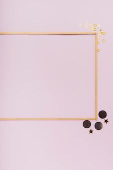 Bovenaanzicht frame met kopie ruimte