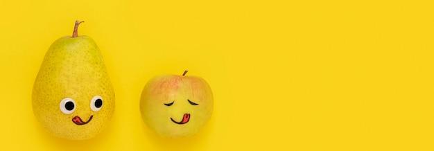 Bovenaanzicht fruit met kopie ruimte