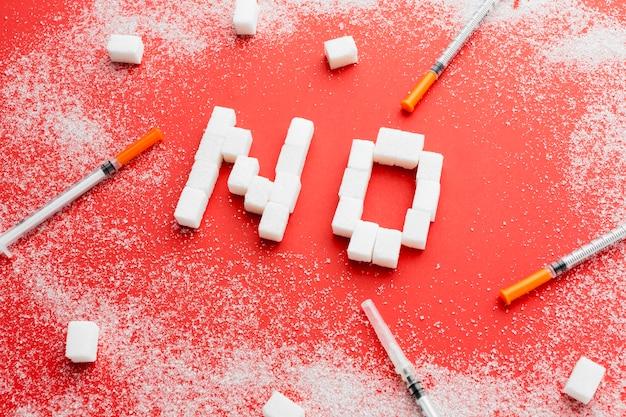 Bovenaanzicht geen suikerbericht