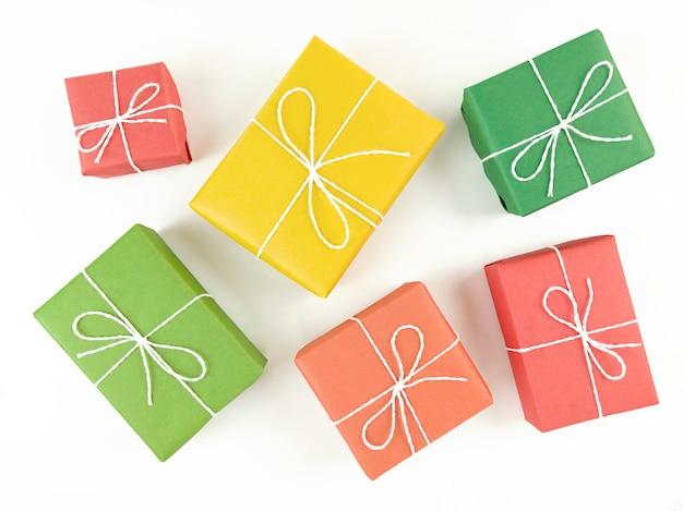 Bovenaanzicht geschenkdozen