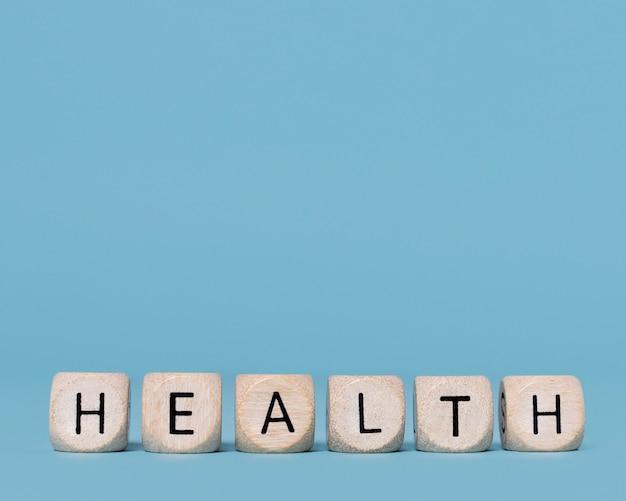 Bovenaanzicht gezondheidsstilleven met kopie ruimte