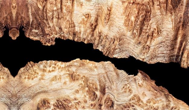 Bovenaanzicht gieten epoxyhars walnoot burl hout achtergrondstructuur