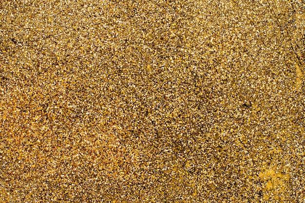 Bovenaanzicht gouden glitter achtergrond
